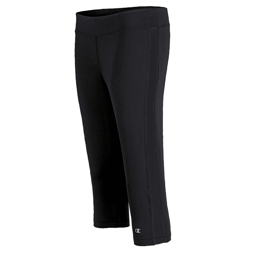 CHAMPION Women's Double Dry Fitness Absolute Workout Knee Pants -  VALUE DEAL - BLACK