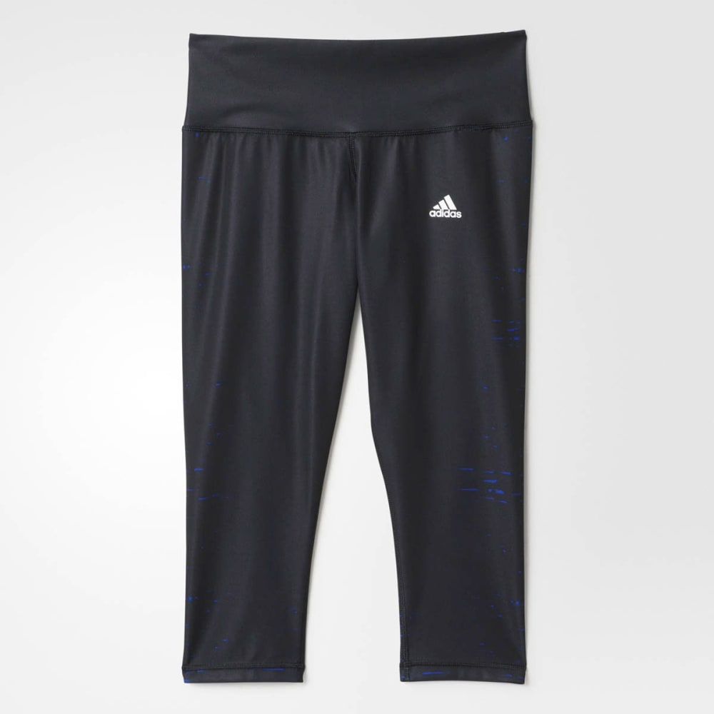 ADIDAS Women's Performer Illuminated Capris - BLACK/NEPTUNE