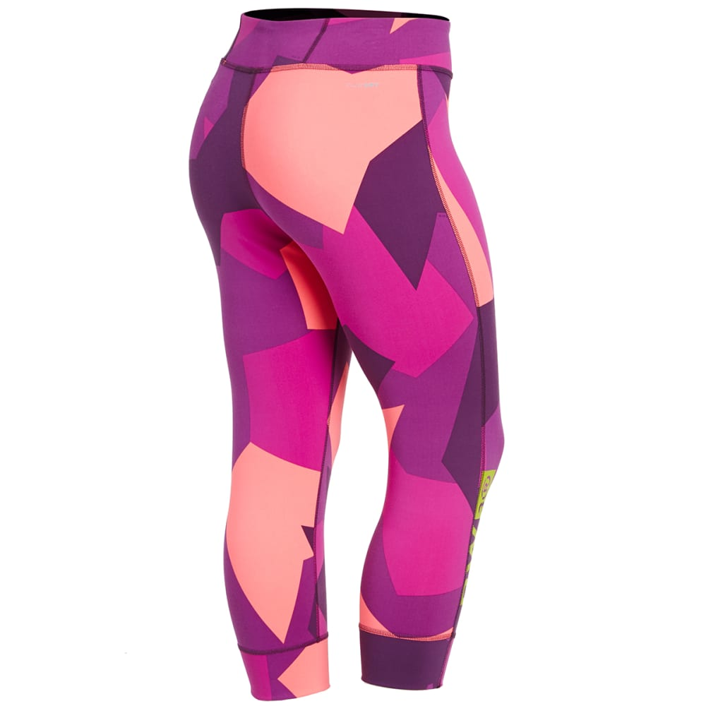 REEBOK Women's One Series Urban Camo Tight Capris - PINK/PURPLE