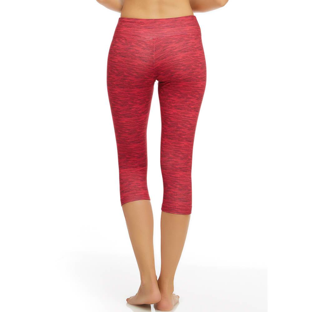 MARIKA Women's Printed Capri Leggings - ROSE RED- 805