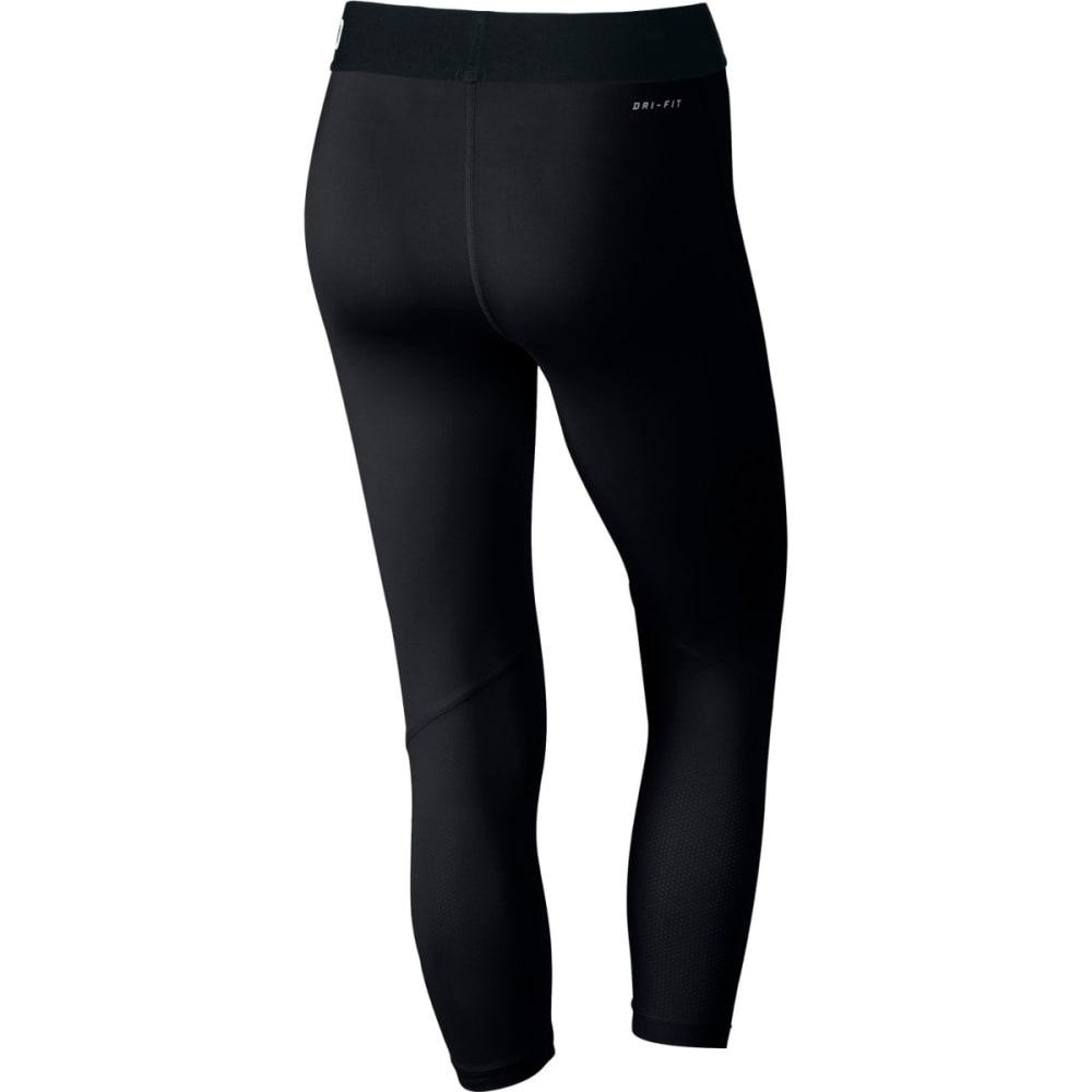 NIKE Women's Pro Cool Training Capris - BLACK/WHT-010