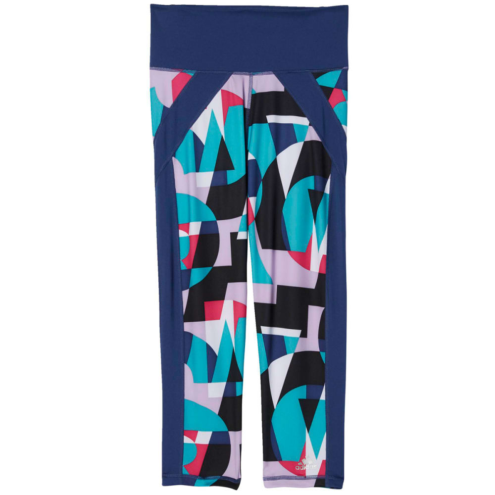 Adidas Women's Performer High-Rise 3/4 Print Tights - Purple, S