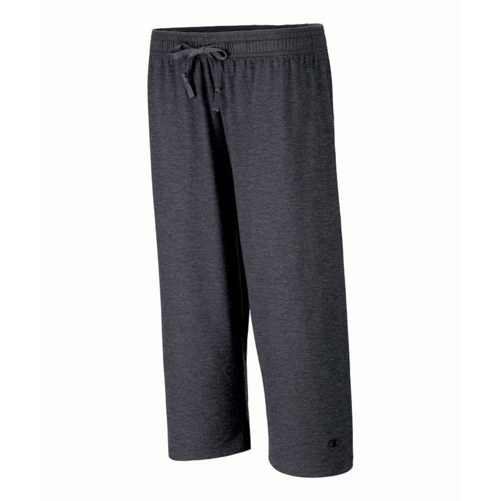 CHAMPION Women's Authentic Jersey Capris - GRANITE HEATHER