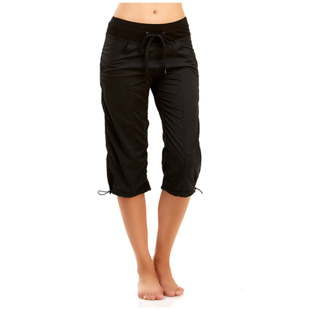 MARIKA Women's Stretch Woven Capris - BLACK