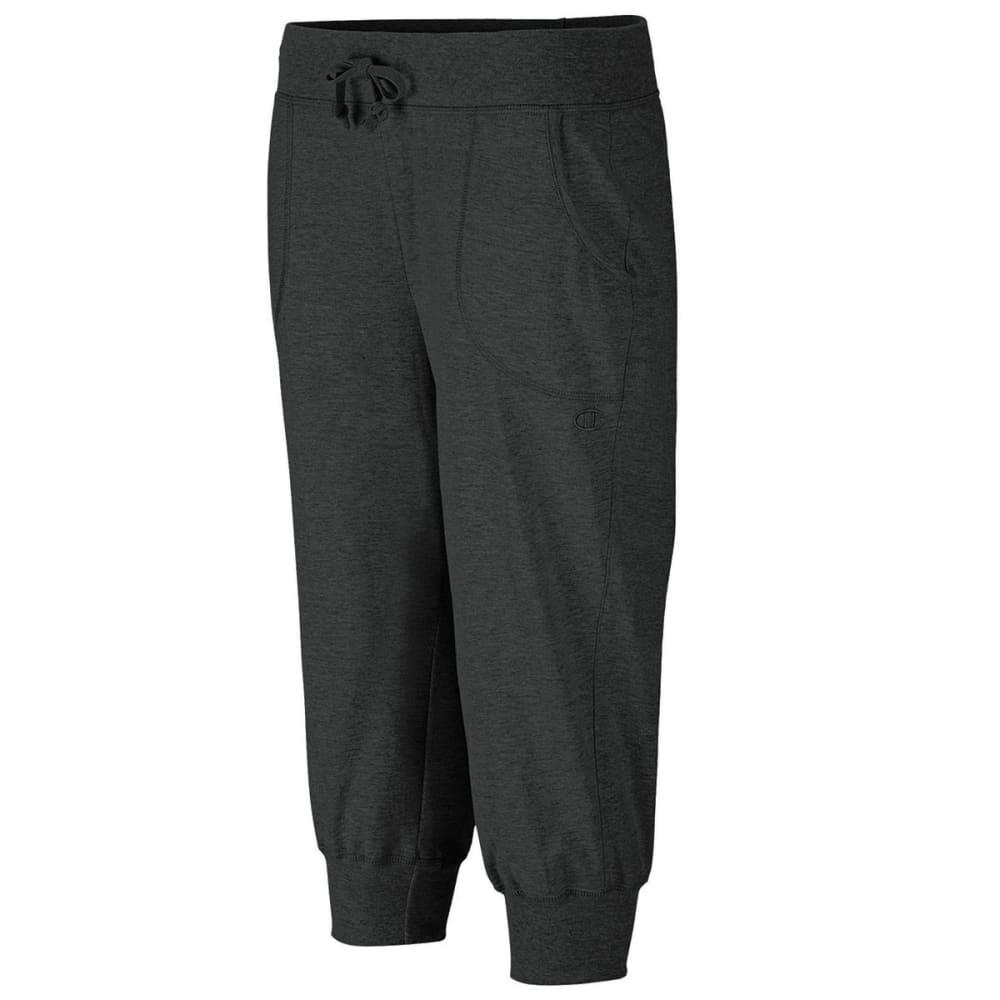 CHAMPION Women's Jersey Banded Knee Pants - BLACK