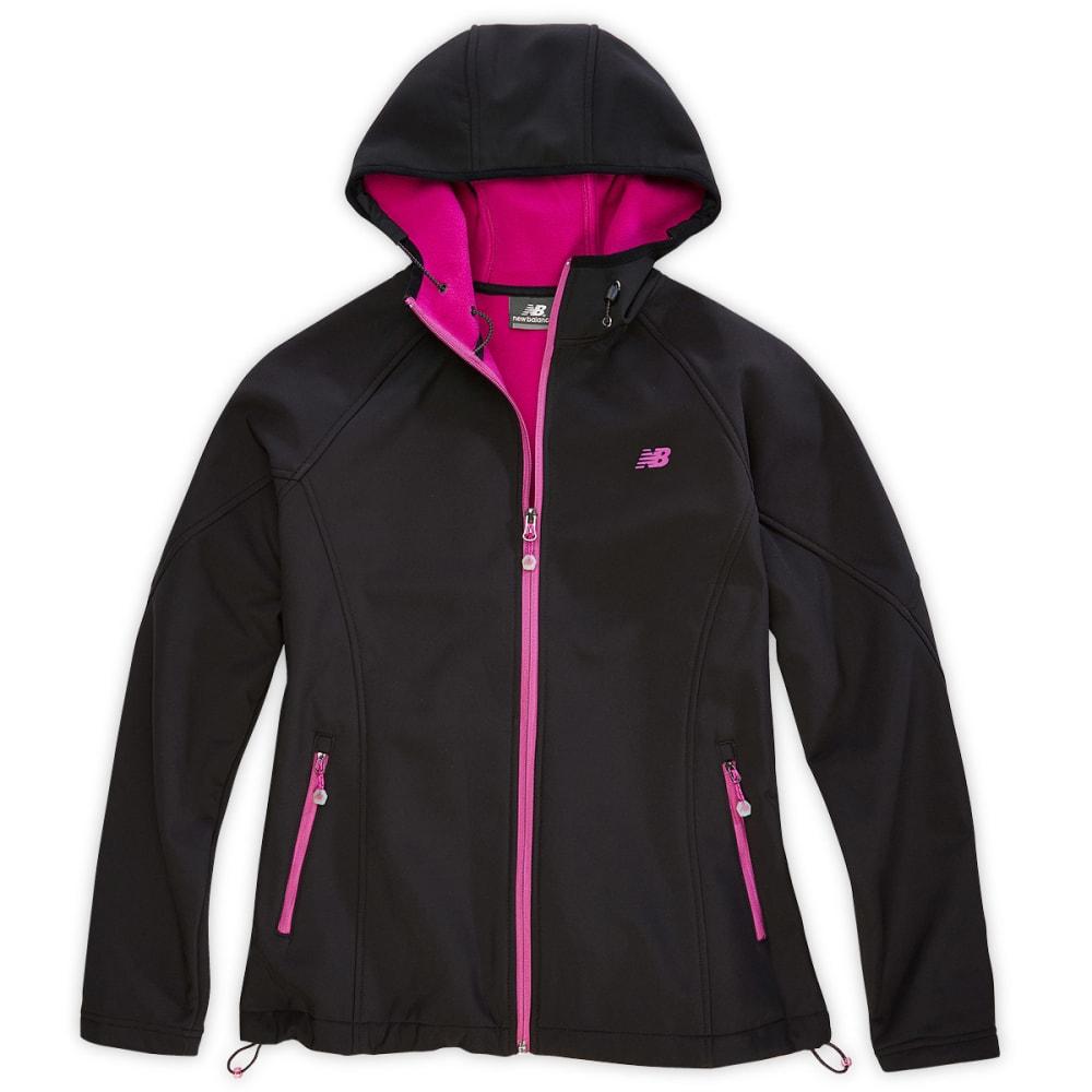 NEW BALANCE Women's Soft Shell Hooded Jacket - BLACK