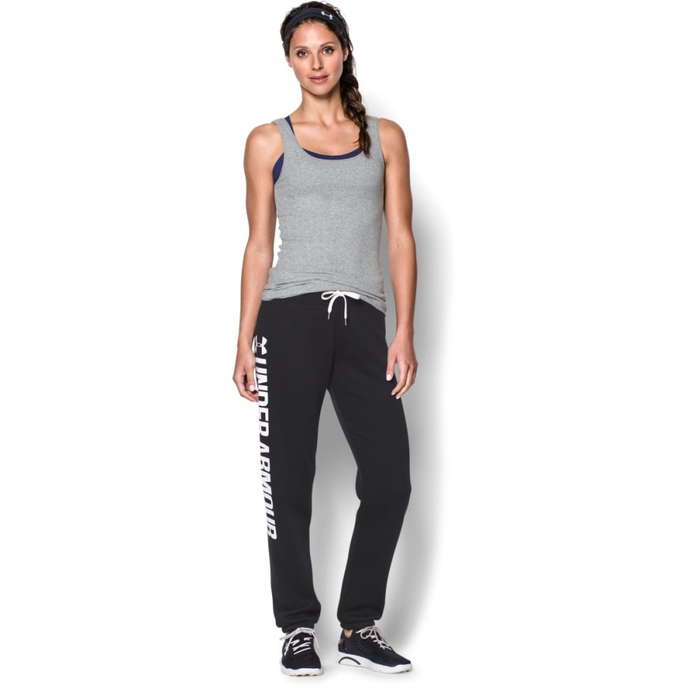 Under Armour Women's UA Favorite Flc Boyfriend Pant - BLACK