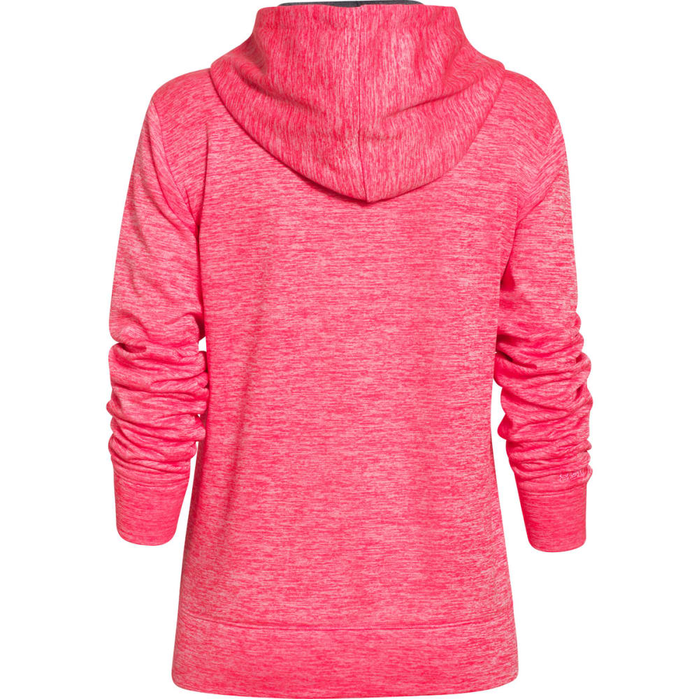 UNDER ARMOUR Women's Big Logo Applique Twist Hoodie - CORAL