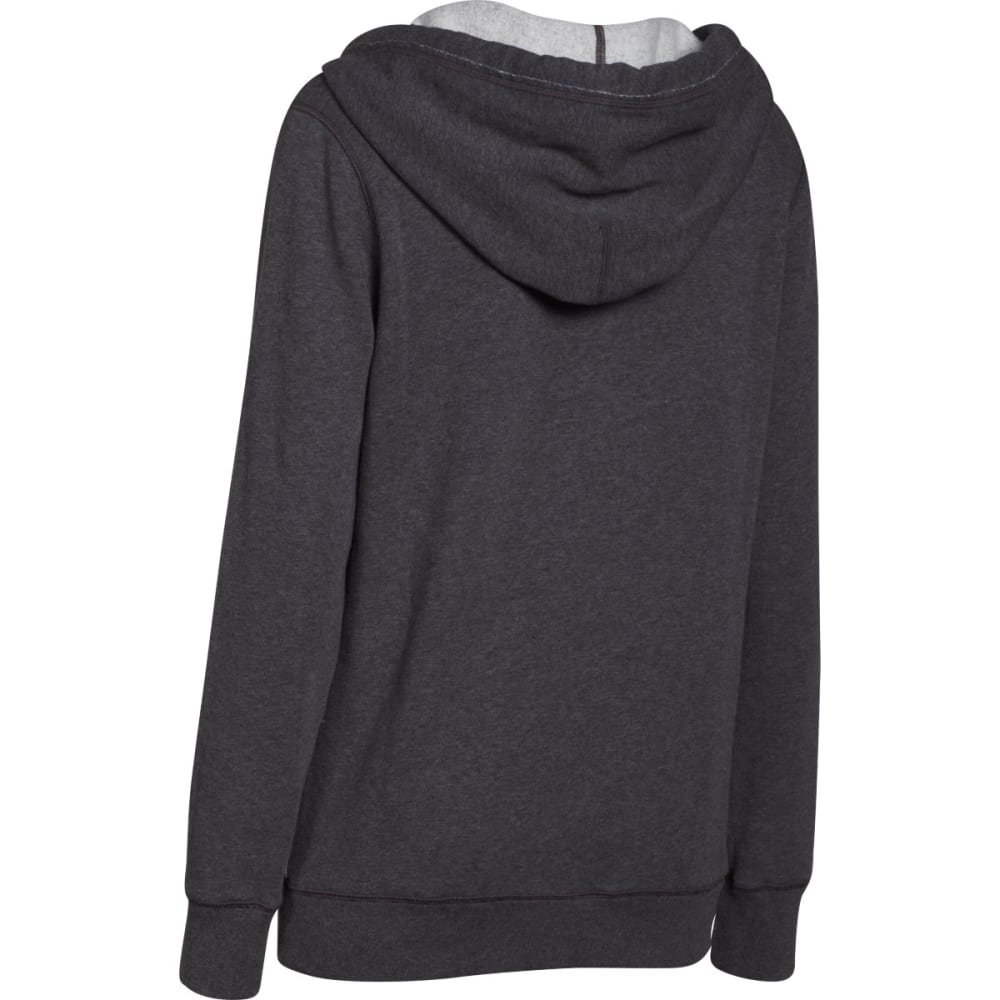 UNDER ARMOUR Women's Favorite Fleece Wordmark Hoodie - ONYX