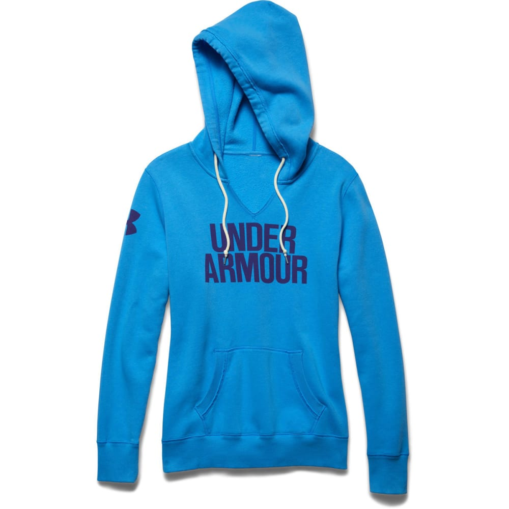 UNDER ARMOUR Women's Favorite Fleece Wordmark Hoodie - JAZZ BLUE