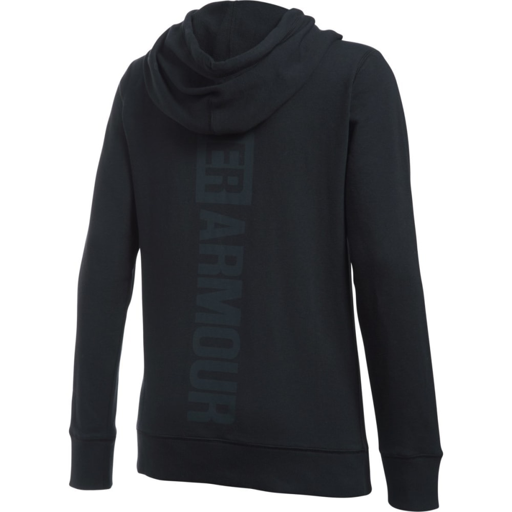 UNDER ARMOUR Women's Favorite French Terry Long-Sleeve Popover - BLACK-002
