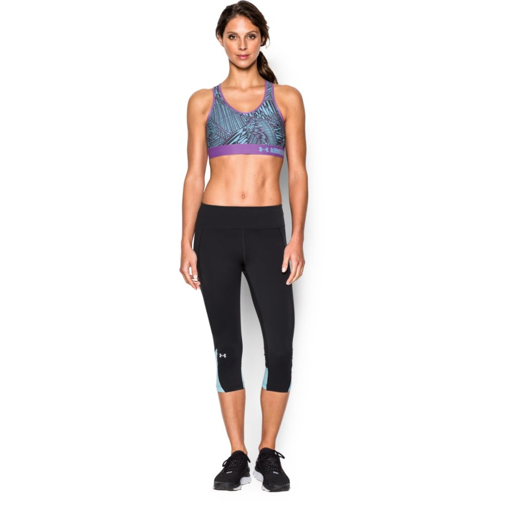 UNDER ARMOUR Women's Armour® Mid Printed Sports Bra - BLUE