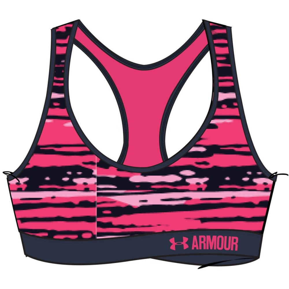 UNDER ARMOUR Women's Armour® Mid Printed Sports Bra - HARMONY RED