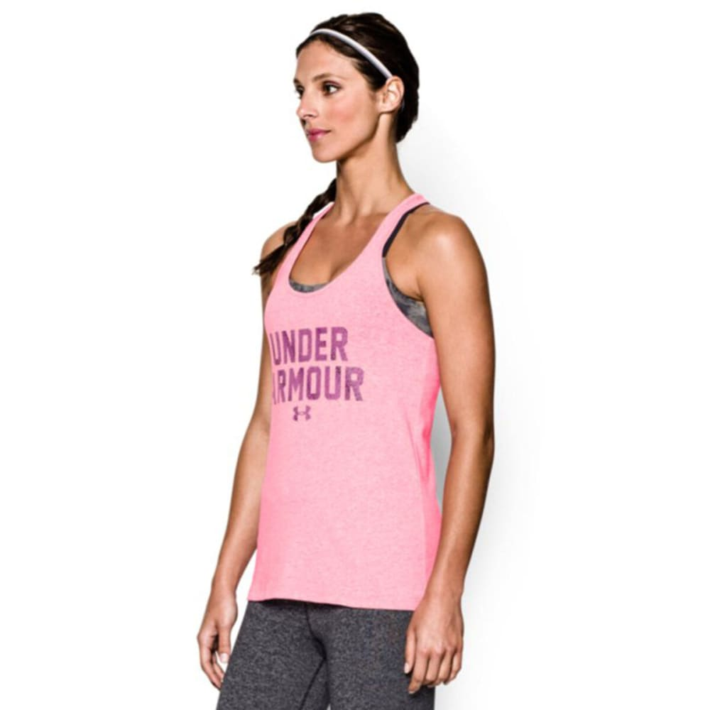 UNDER ARMOUR Women's Charged Cotton® Wordmark Tank - PINK
