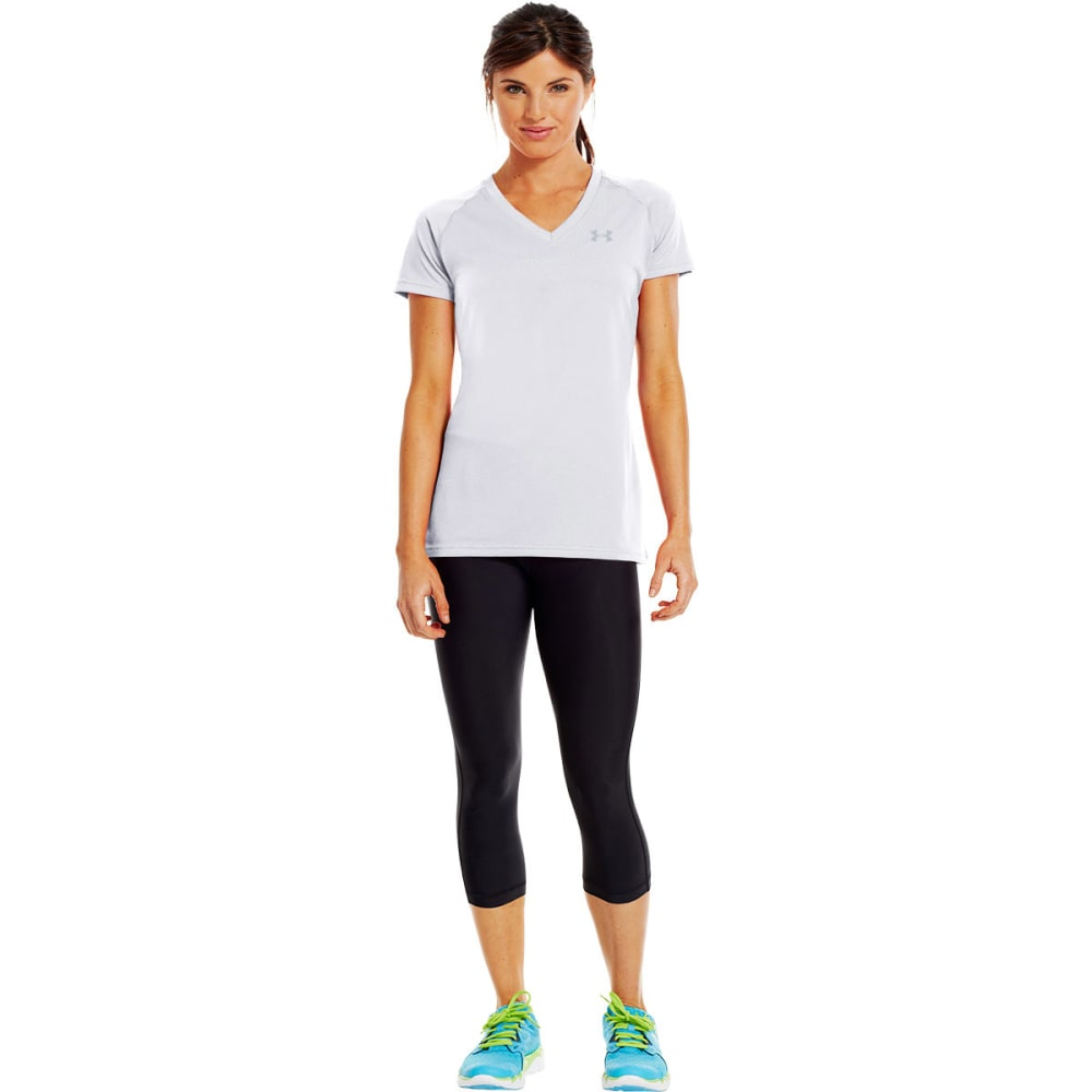 UNDER ARMOUR Women's Tech™ Short Sleeve V-Neck - WHITE