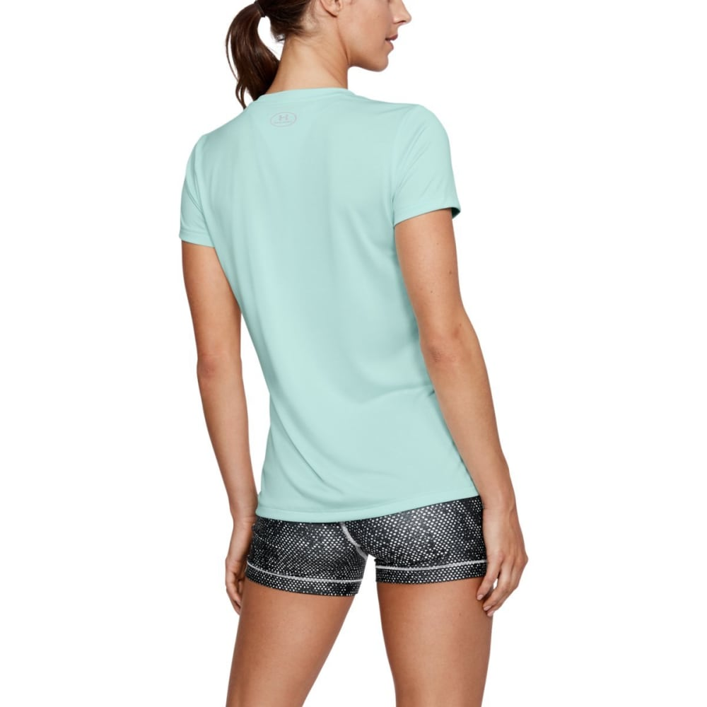 UNDER ARMOUR Women's UA Tech V-Neck Tee - REFRESH MINT-703