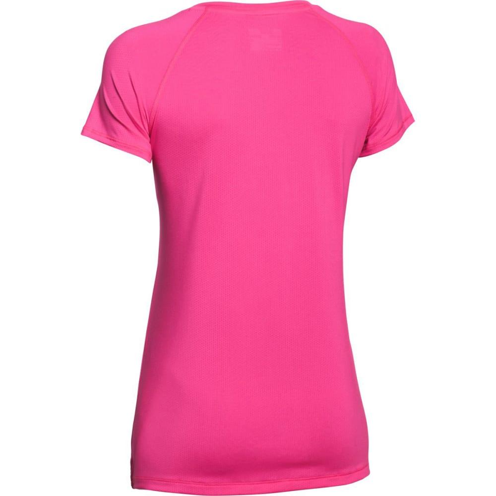 UNDER ARMOUR Women's HeatGear® ArmourVent™ Tee - REBEL PINK