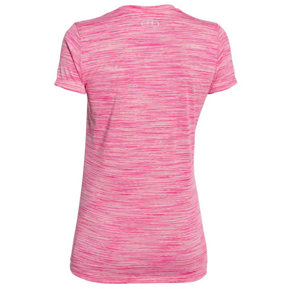UNDER ARMOUR Women's Space Dye Tech Tee Shirt - PINK