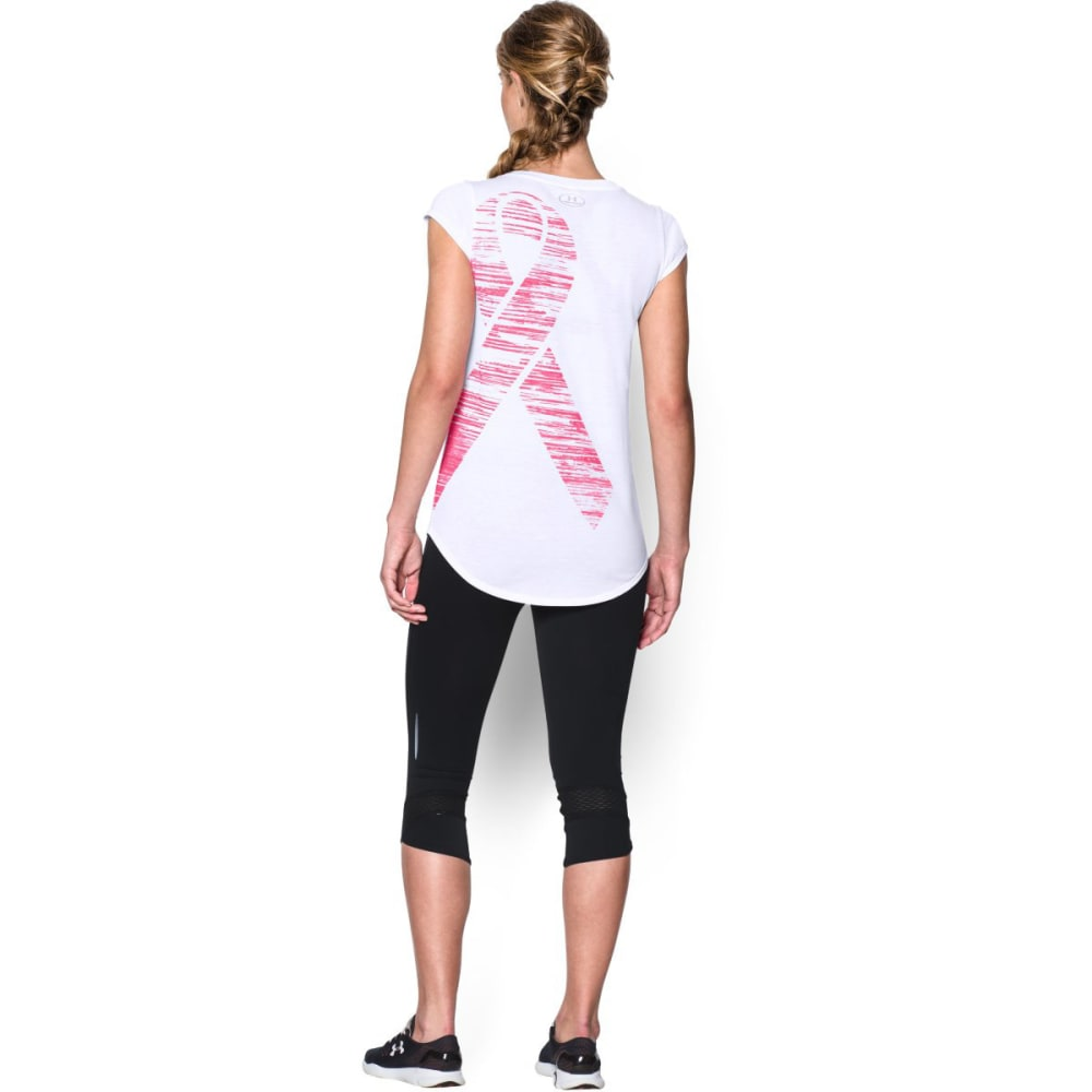 UNDER ARMOUR Women's Power In Pink® Go Fight Cure Long - WHITE