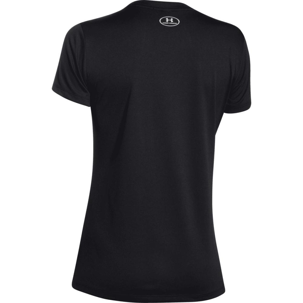 UNDER ARMOUR Women's Tech V-Neck Shirt - BLACK