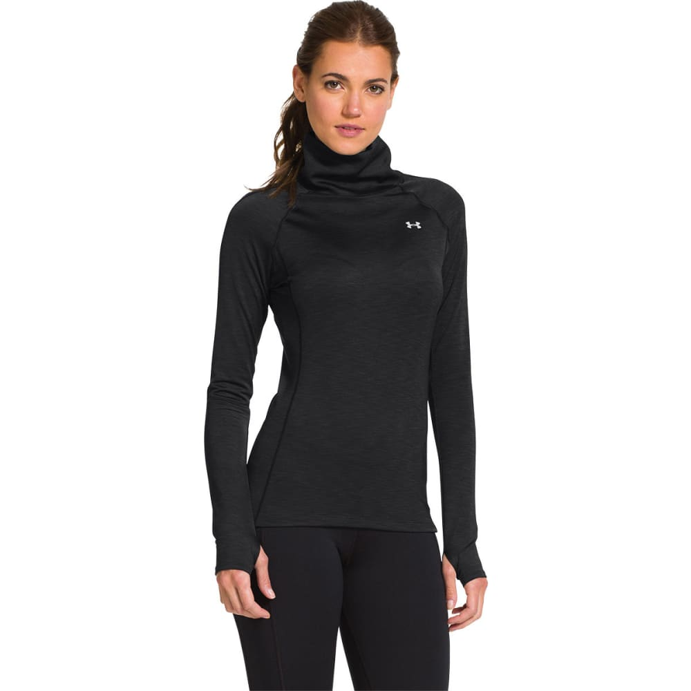 UNDER ARMOR Women's ColdGear® Cozy Neck Top - BLACK