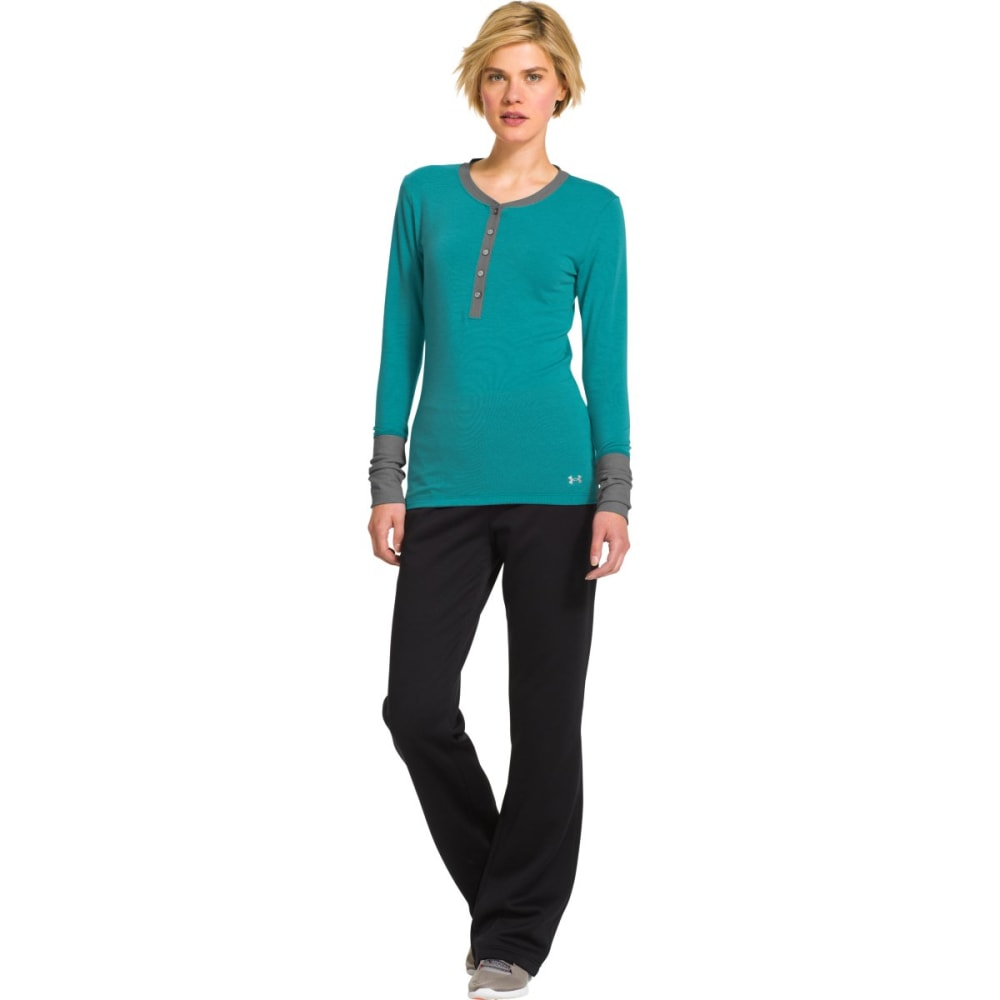 UNDER ARMOUR Women's ColdGear Infrared Henley - AQUEDUCT