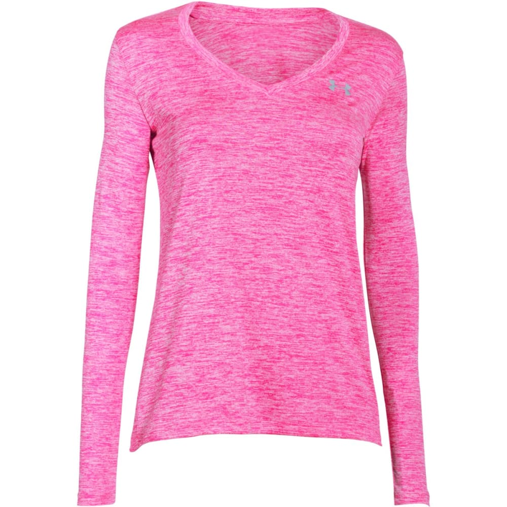 UNDER ARMOUR Women's UA Tech™ Twist Long-Sleeve Tee - REBEL PINK