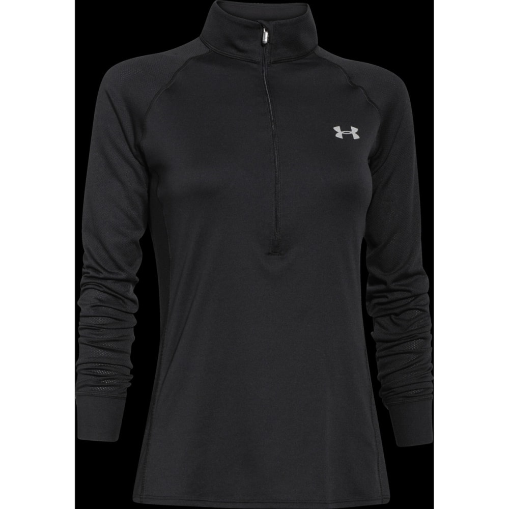 UNDER ARMOUR Women's Tech ½-Zip Long-Sleeve Shirt - BLACK