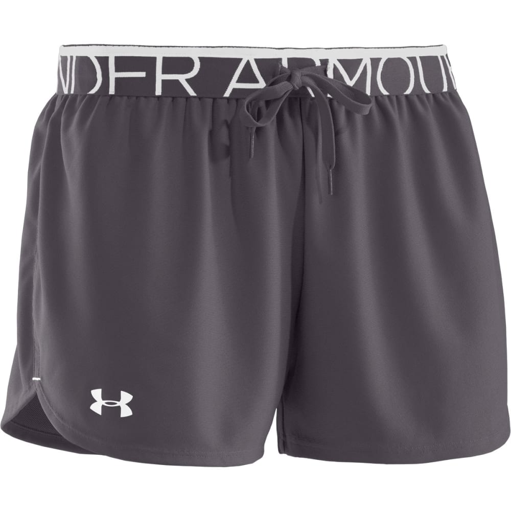 UNDER ARMOUR Women's Play Up Shorts - PHANTOM GREY