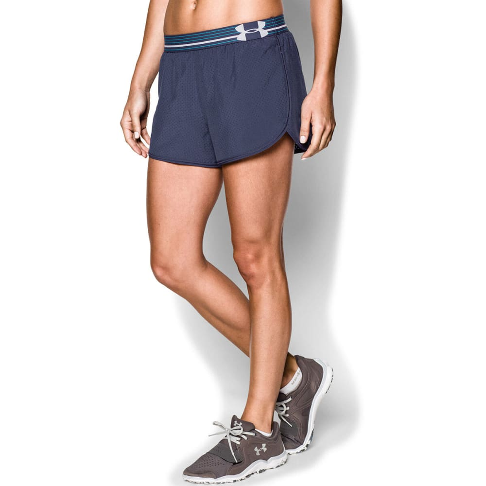 UNDER ARMOUR Women's Perfect Pace Shorts - RAVEN