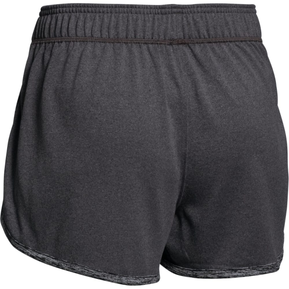 UNDER ARMOUR Women's Tech Shorts - CARBON HEATHER-091