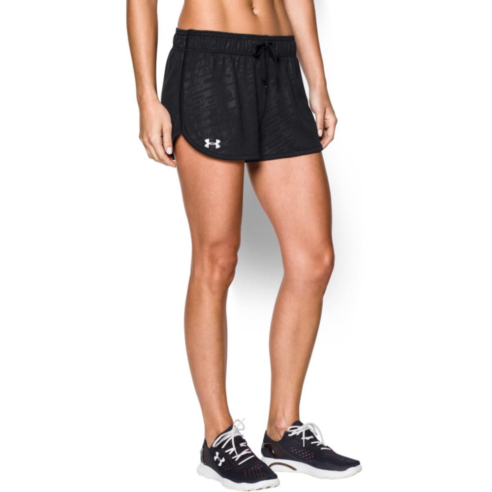 UNDER ARMOUR Women's Tech Print Shorts - BLACK