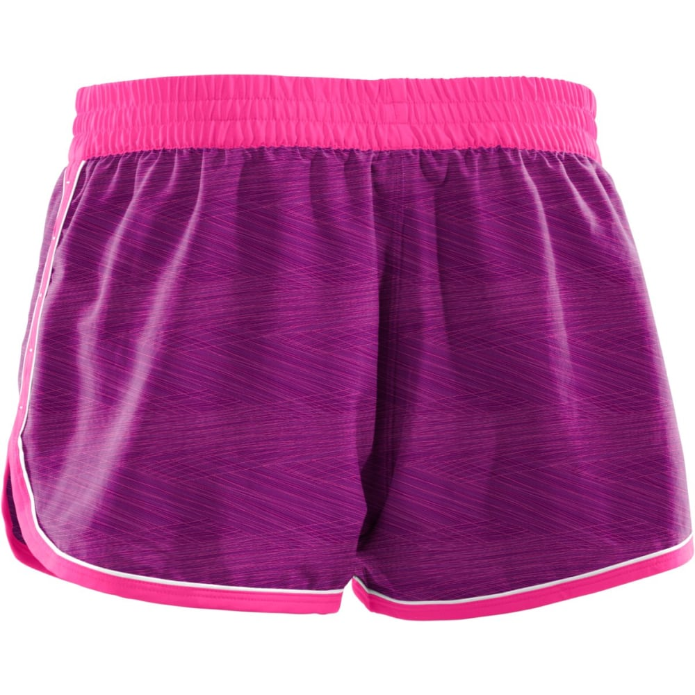 UNDER ARMOUR Women's Great Escape Printed Shorts ll - AUBERGINE