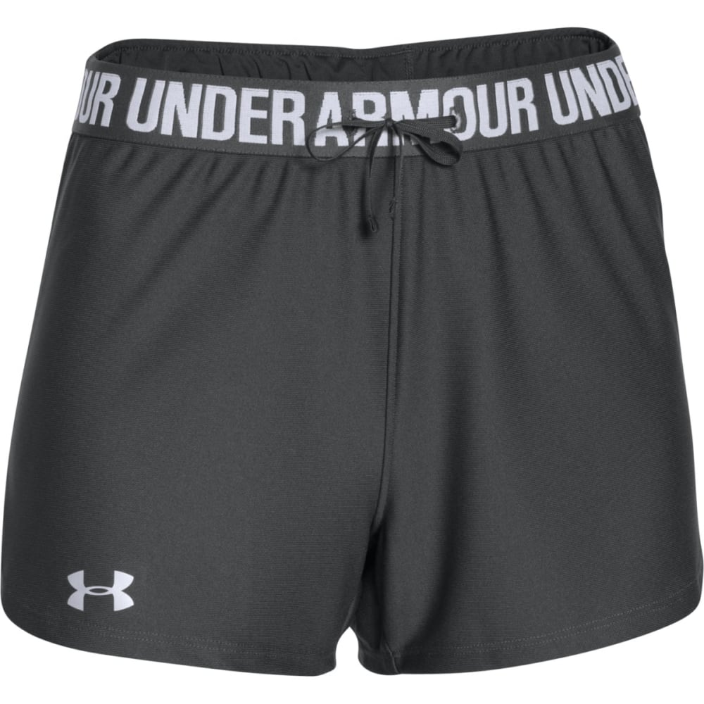 UNDER ARMOUR Women's Play Up Shorts - PHANTON GRY-003