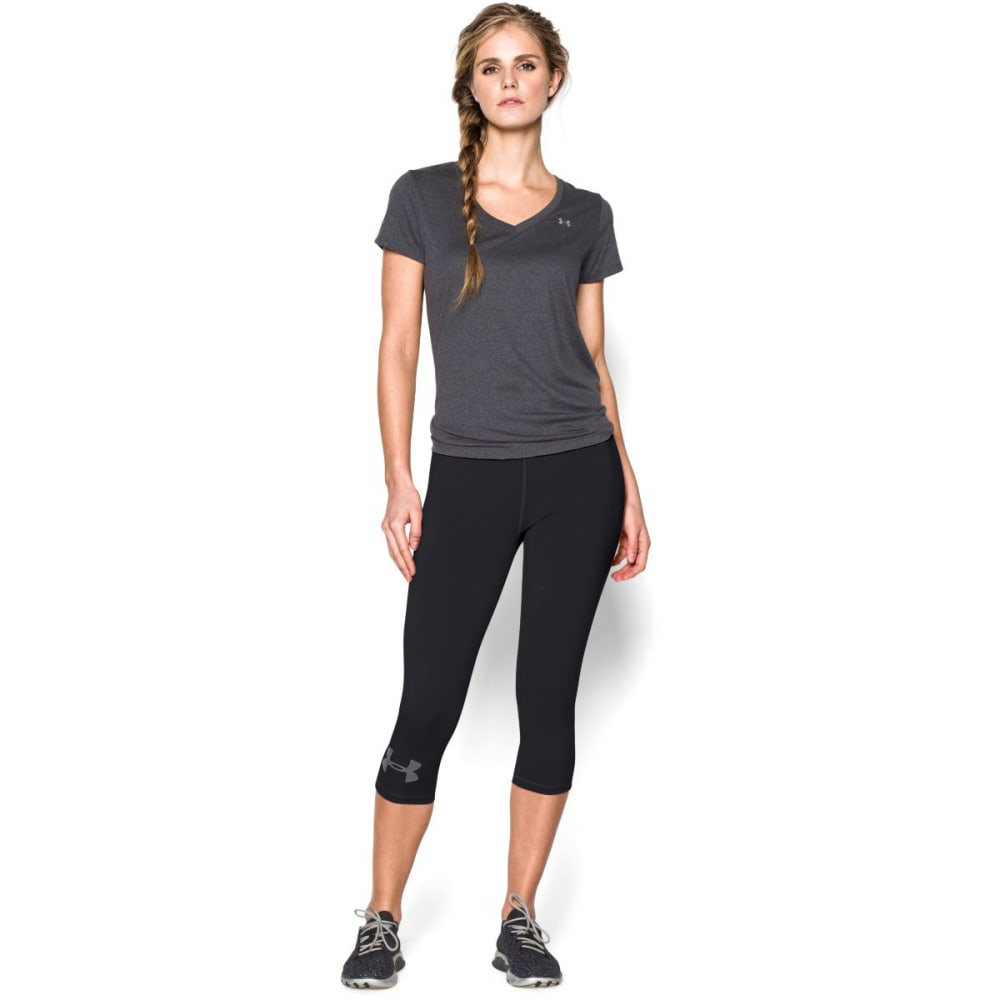 UNDER ARMOUR Women's Rival Capri - BLACK-001