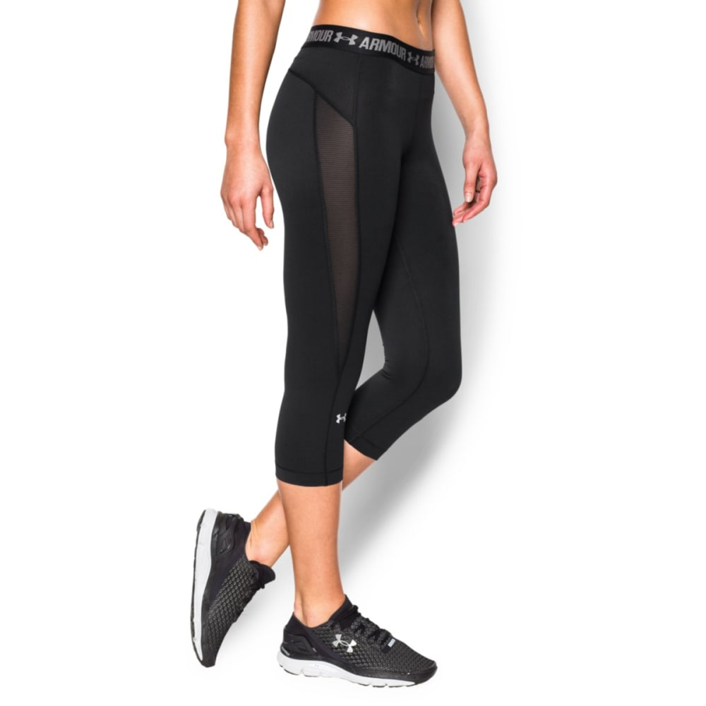 UNDER ARMOUR Women's HeatGear® CoolSwitch Capri Pants - BLACK