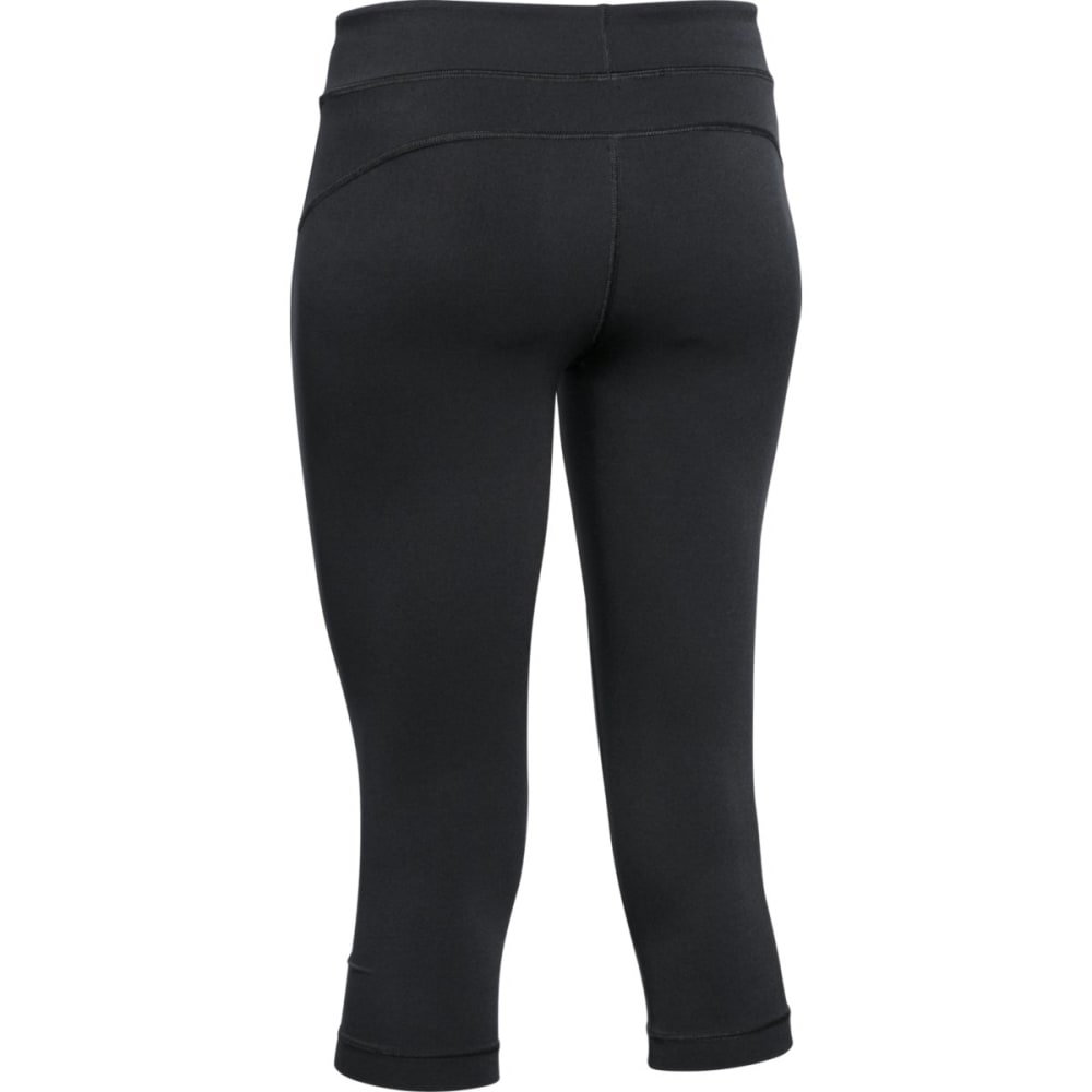 UNDER ARMOUR Women's HeatGear® Capri Pants - BLACK 001