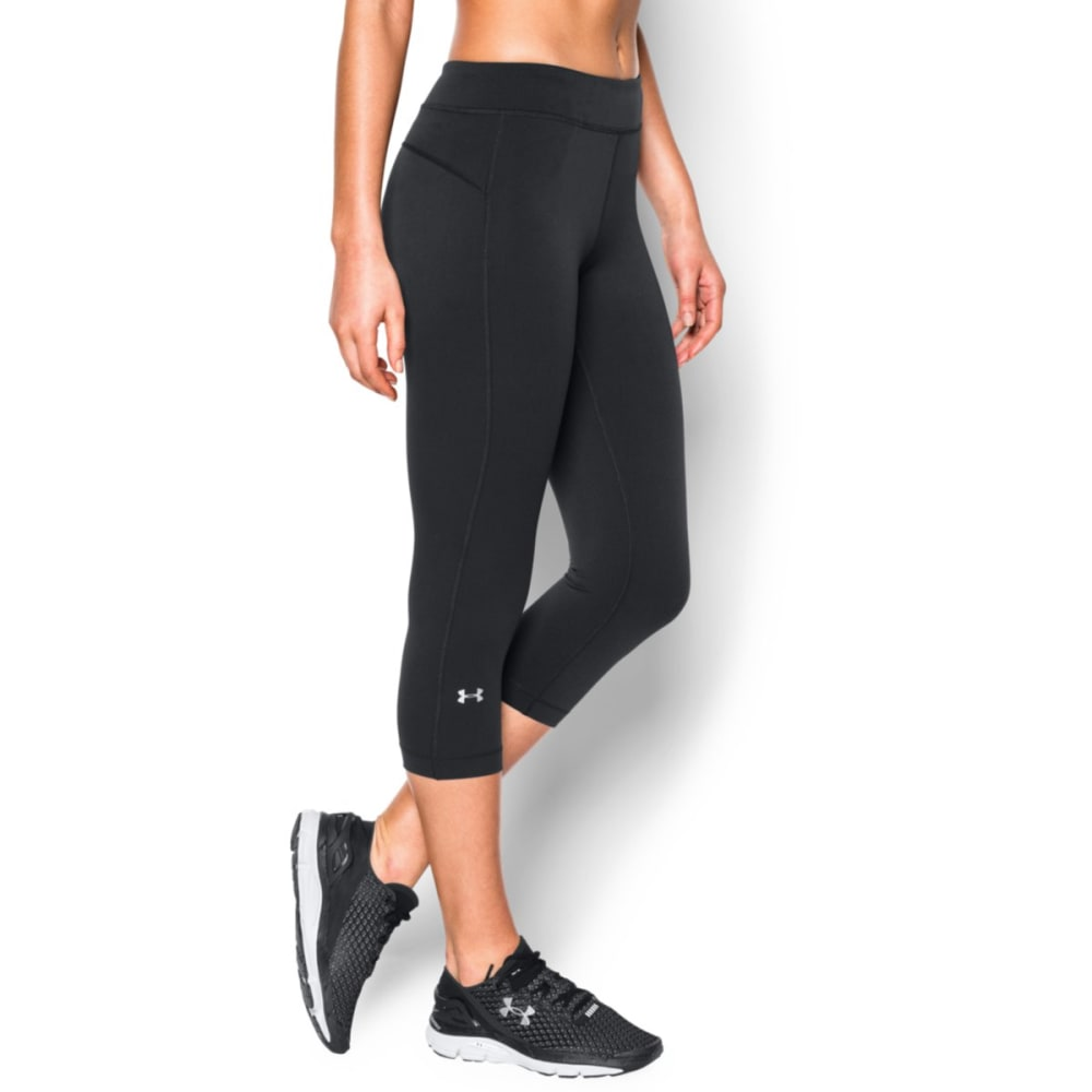 UNDER ARMOUR Women's HeatGear® Capri Pants - BLACK 001