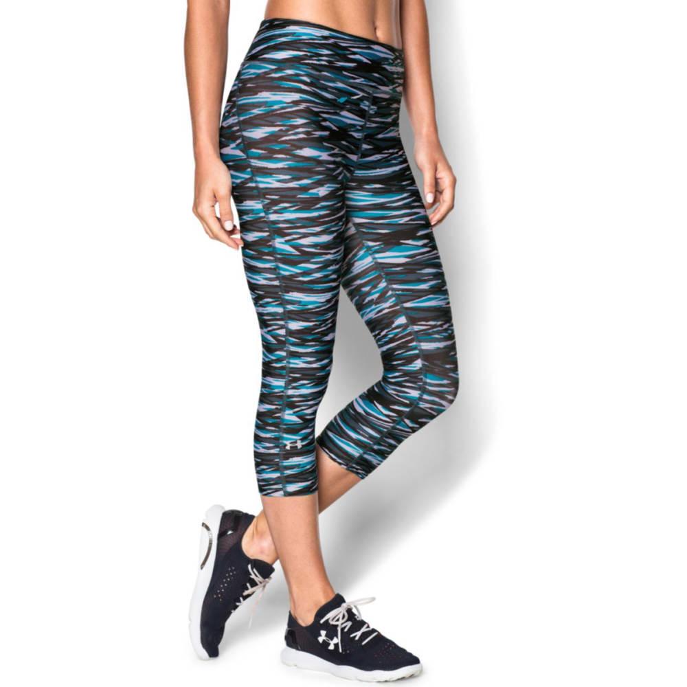 "UNDER ARMOUR Women's HeatGear® Armour Novelty 17"" Capri Pants - BLACK"