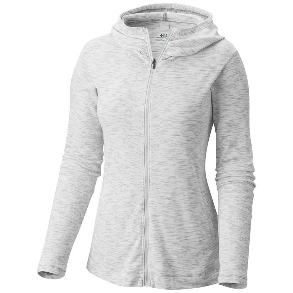 COLUMBIA Women's Outerspaced Knit Full-Zip Hoodie - 101-WHITE SPACEDYE