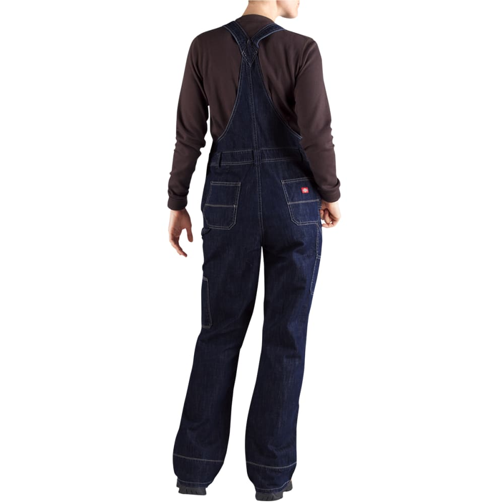 DICKIES Women's Bib Denim Overalls - BLACK