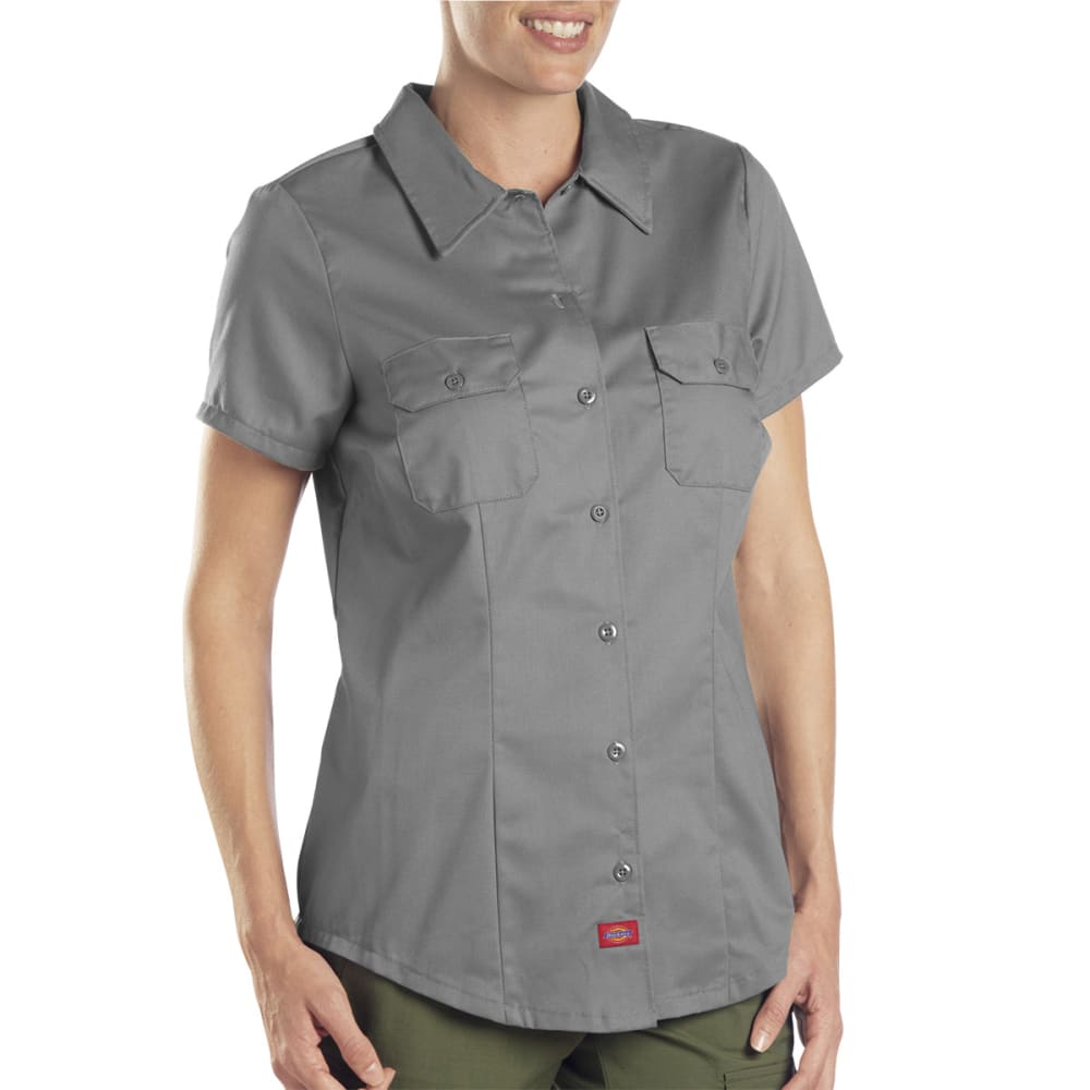 DICKIES Women's Twill Work Shirt - GRAPHITE