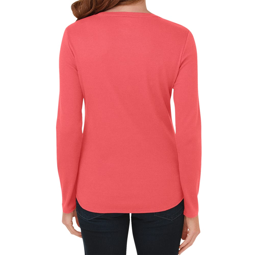 DICKES Women's Long Sleeve Thermal Top - CORAL