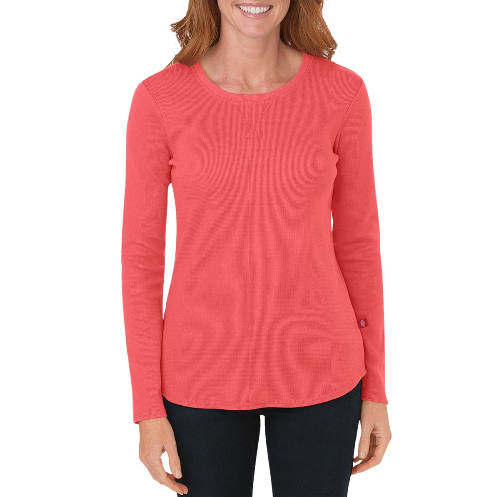 Dickes Women's Long Sleeve Thermal Top - Orange, S