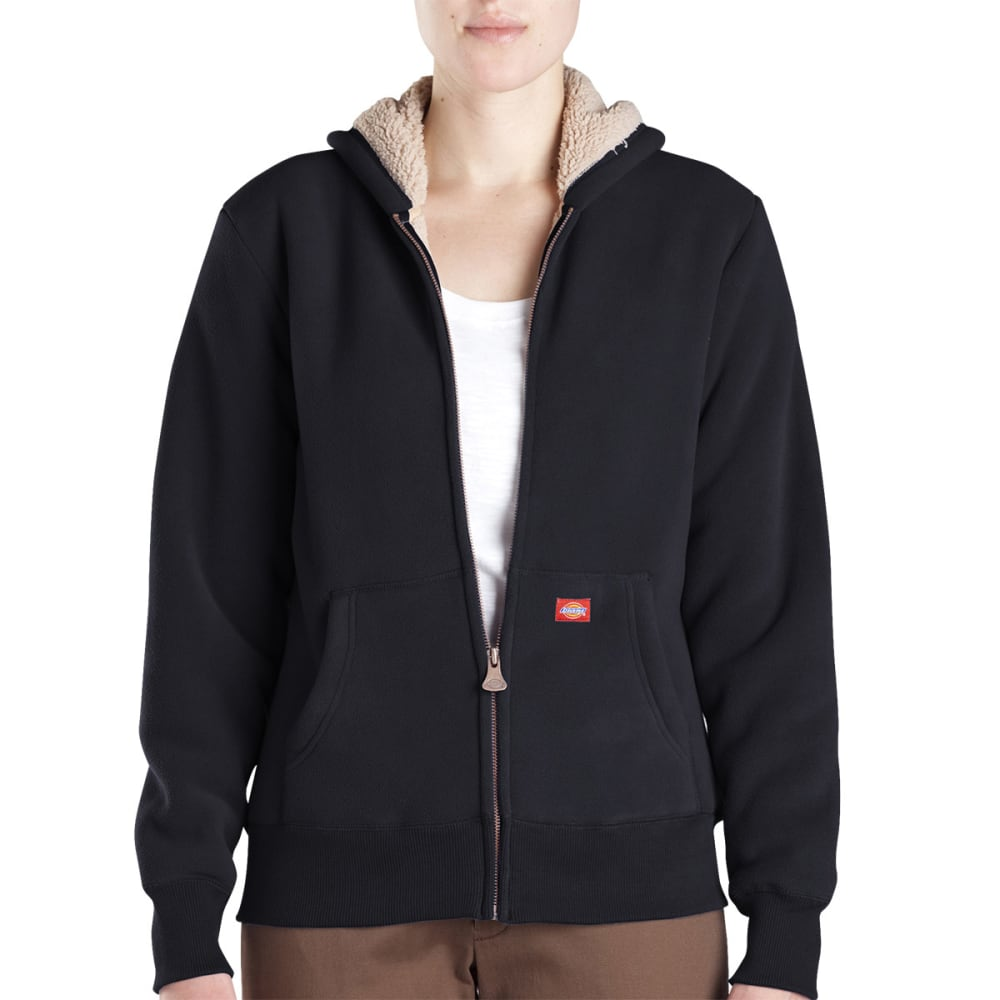 DICKIES Women's Sherpa Fleece Hoodie - BLACK