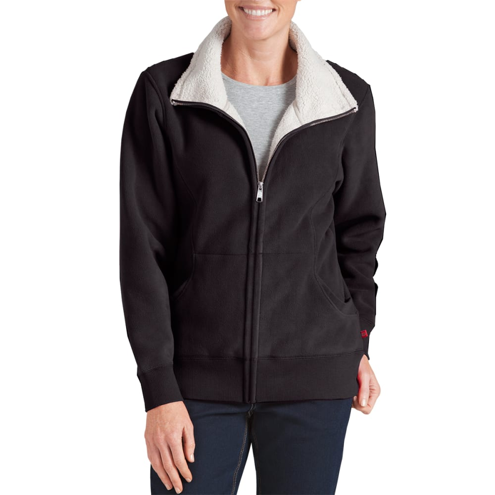 DICKIES Women's Sherpa Fleece Jacket - BLACK