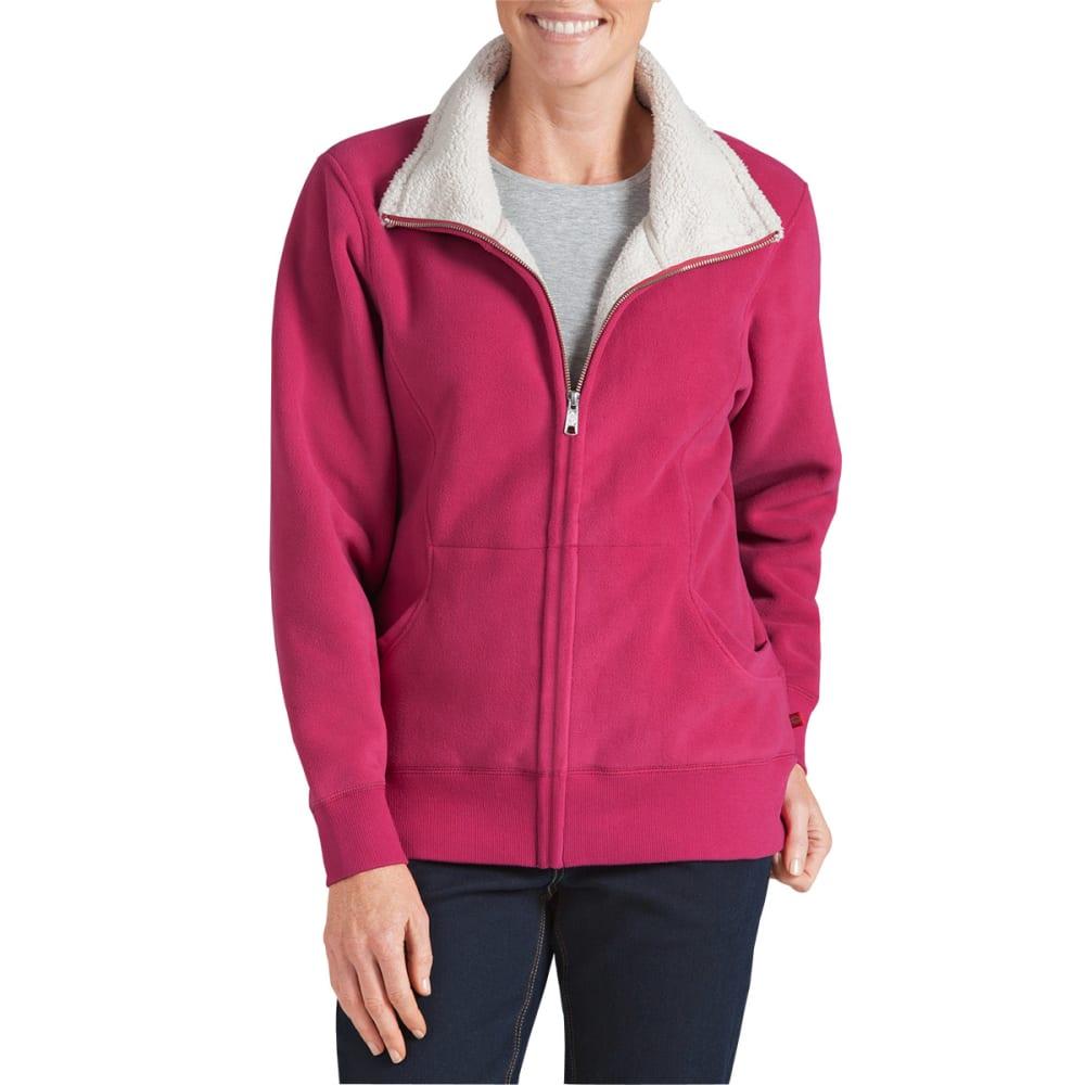 DICKIES Women's Sherpa Fleece Jacket - RASPBERRY