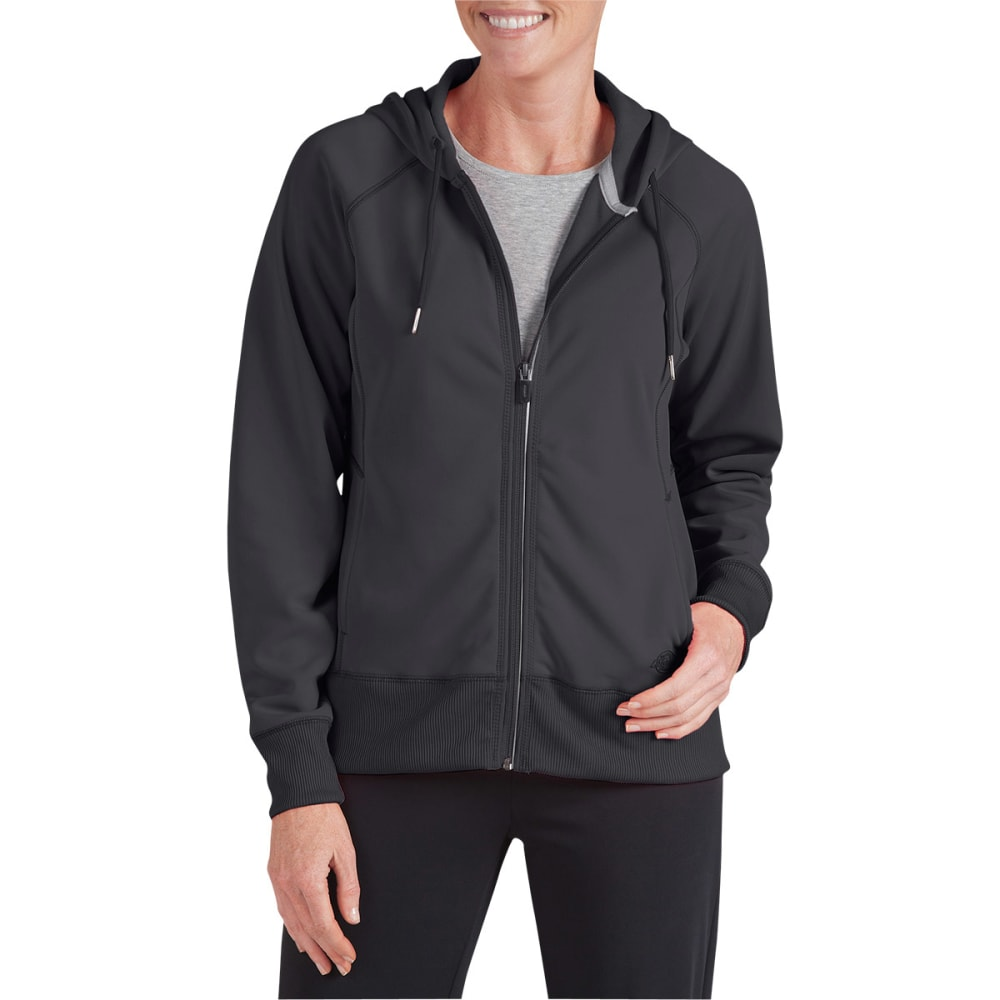 DICKIES Women's Perfect Tech Full Zip Hoodie - BLACK