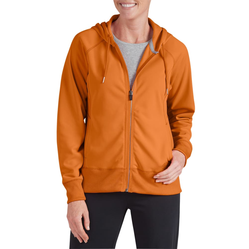 DICKIES Women's Perfect Tech Full Zip Hoodie - ORANGE
