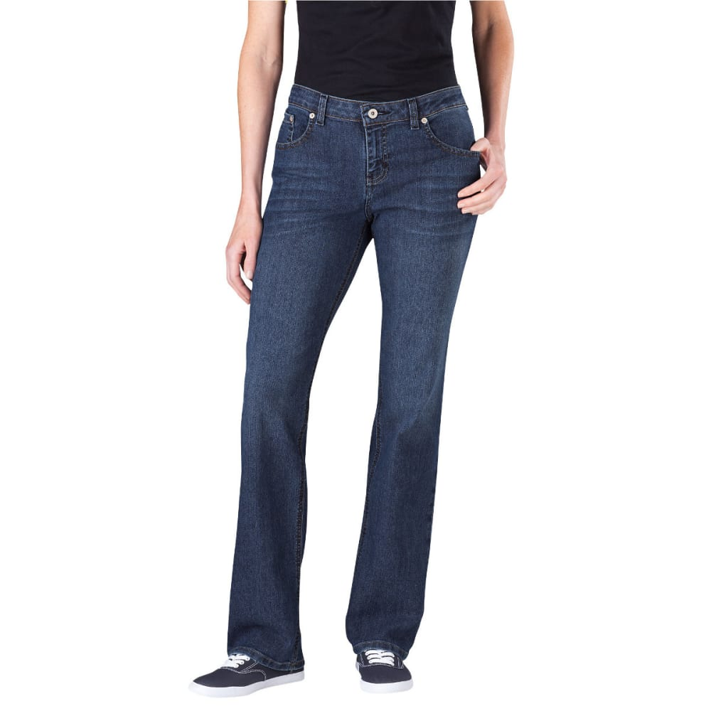 DICKIES Women's Relaxed Straight Leg Jeans - DARK STONE
